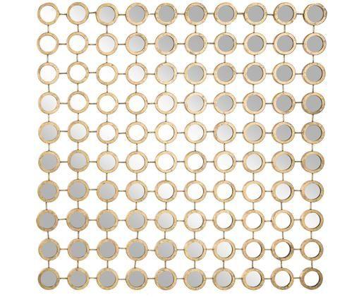 Specchio da parete Elsa, Cornice: metallo, Superficie dello specchio: lastra di vetro, Dorato, L 100 x A 100 cm