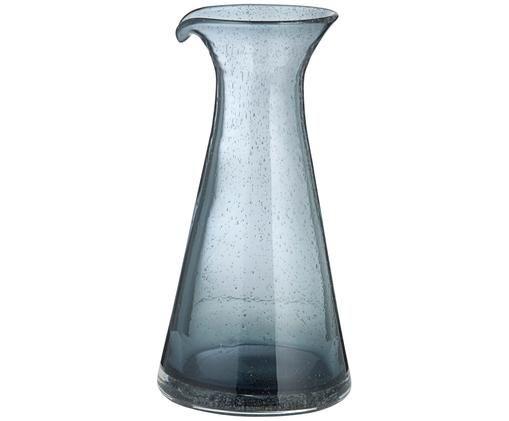 Caraffa soffiata Bubble, Vetro, Trasparente, grigio, 800 ml