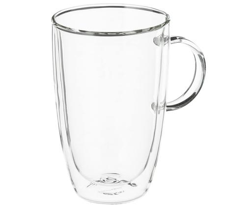 Doppelwandiges Teeglas XL Artesano Original, Borosilikatglas, Transparent, 450 ml