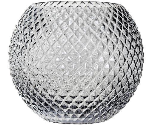Wazon Crystal, Szary, lekko transparentny
