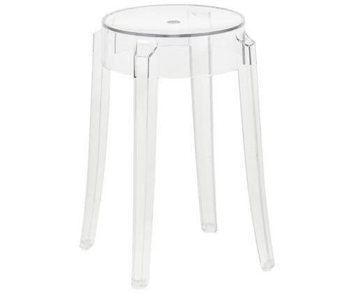 Tabouret/table d'appoint transparente Charles Ghost, Transparent