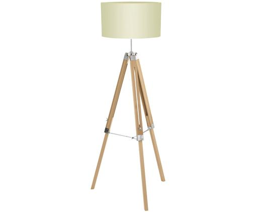 Stehlampe Lantada aus Holz, höhenverstellbar
