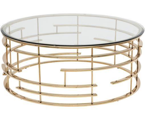 Tavolino da salotto Jupiter, Accaio inossidabile, trasparente
