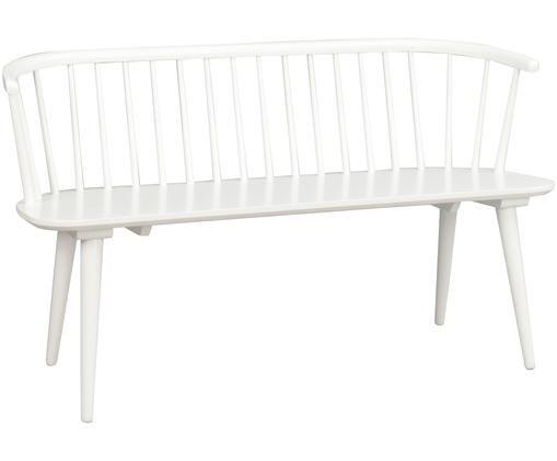 Weiße Holzbank Carmen im Windsor Design
