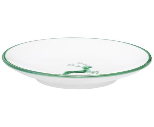 Sottotazza Classic Grüner Hirsch, Ceramica, Verde, bianco, Ø 15 cm