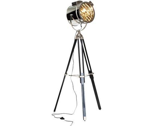 Industrial-Stehleuchte Cine, höhenverstellbar, Lampenschirm: Metall, Gestell: Metall, Holz, Gestell: Metall, Holz<br>Lampenschirm: Metall, Ø 45 x H 175 cm