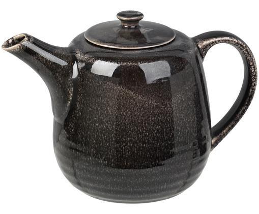 Handgemachte Teekanne Nordic Coal aus Steingut