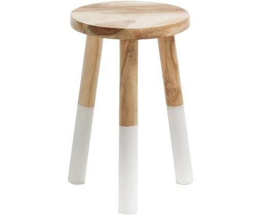 Skandi Hocker Brocsy aus Holz