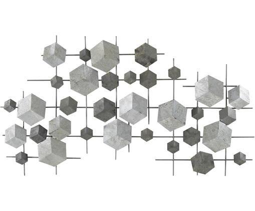 Wandobjekt Cube aus lackiertem Metall