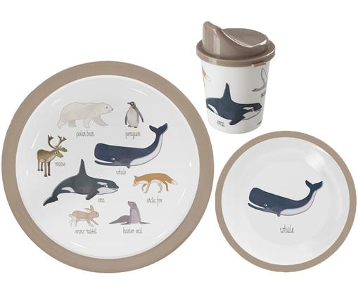 Geschirr-Set Arctic Animals, 3-tlg.