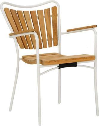 Garten-Armlehnstuhl Hard & Ellen aus Holz