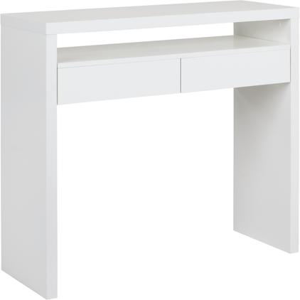 Schmaler Schreibtisch Teresa mit ausziehbarer Tischplatte