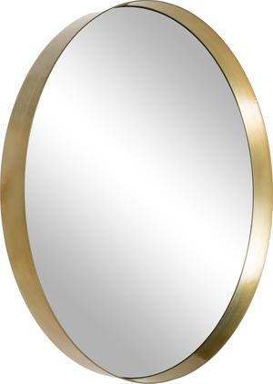 Runder Wandspiegel Metal mit Goldrahmen