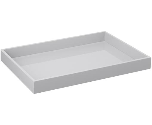 Vassoio Hayley, Vassoio: pannello di fibra a media, Grigio chiaro, fondo: grigio chiaro, L 50 x P 35 cm