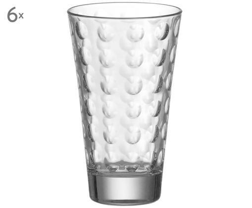 Bicchieri per l'acqua Optik Arthur, 6 pz., Trasparente