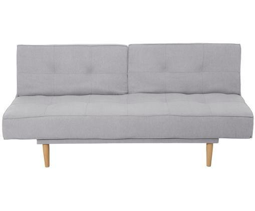 Canapé futon convertible Candy, rabattable (3places), Gris clair Pieds: métal à aspect bois