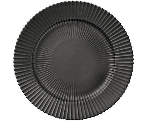 Assiette plate The Lyngby Plate, Noir, mat