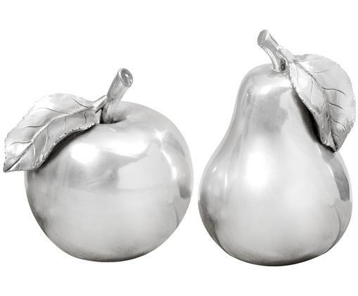 Komplet owoców dekoracyjnych Tutti Frutti, 2 elem., Odcienie srebrnego