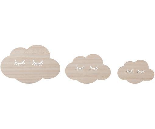 Wandobjekte-Set Clouds, 3-tlg.