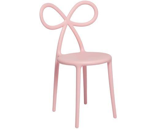Kunststoff-Stuhl Ribbon in Rosa