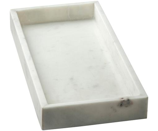 Marmor-Tablett Jette, Weiß, marmoriert