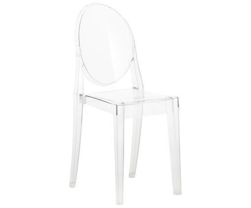 Sedia Victoria Ghost, Policarbonato, Trasparente, L 38 x A 89 cm