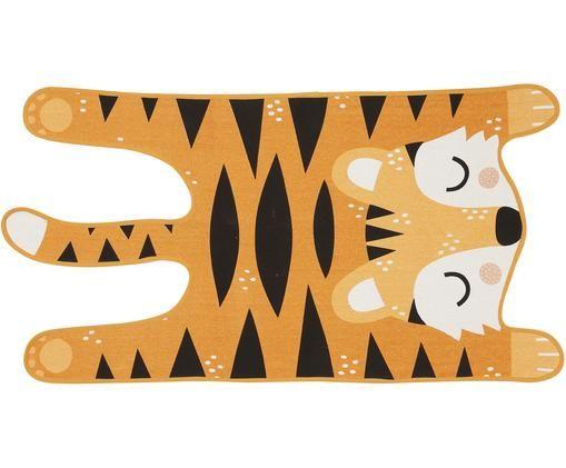 Flachgewebter Teppich Tiger Theo