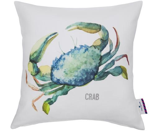 Kussenhoes Crab, Wit met multicolour print