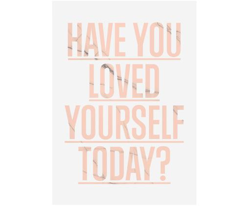 Poster Loved Yourself?, Poster: bianco Incisione: rosa