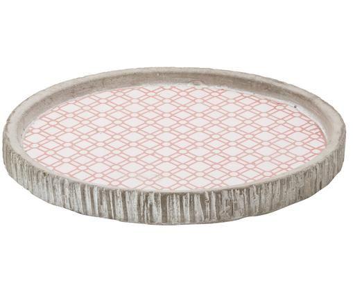 Vassoio decorativo Cement, Rosa, bianco, grigio
