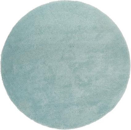 Flauschiger runder Hochflor-Teppich Leighton in Mintgrün