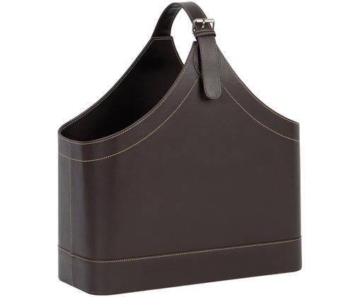 Portariviste Ready, Struttura: cartone, Rivestimento: poliuretano, Portariviste: marrone Cuciture: beige Involucro: metallo, L 40 x A 45 cm