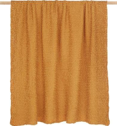 Baumwoll-Plaid Vigo in Goldgelb mit strukturierter Oberfläche