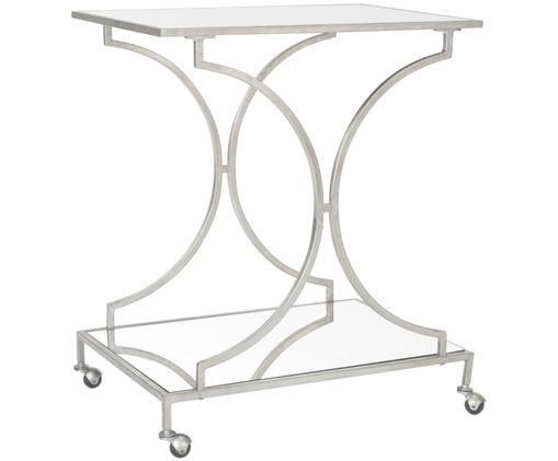 Wózek barowy z metalu  Caleb, Stelaż: żeliwo, Odcienie srebrnego, S 66 x W 79 cm