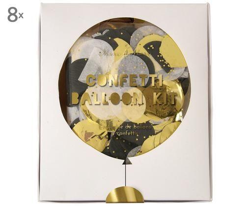 Set confetti a palloncini Joline, Lattice, carta, cartone, Multicolore, L 10 x A 13 cm
