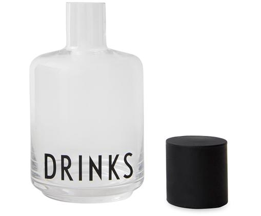 Design Karaffe Drinks mit Schriftzug