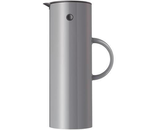 Isolierkanne EM77 in Grau glänzend, Außen: Edelstahl, beschichtet, Innen: ABS-Kunststoff mit Glasei, Granitgrau, 1 L