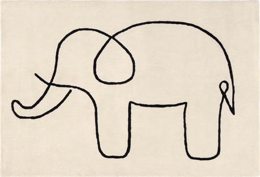 Teppich Sketchy Elephant