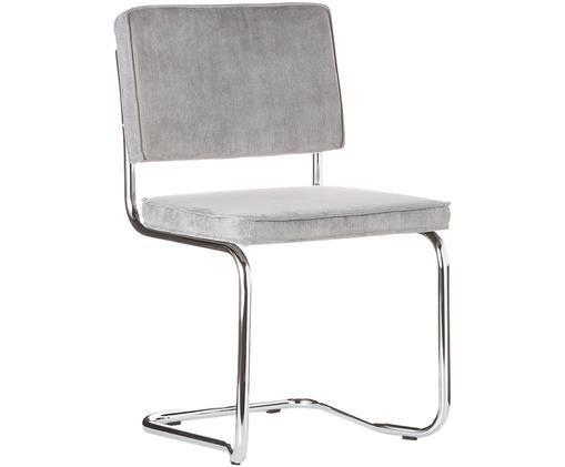 Silla cantilever Ridge Kink Chair, Gris claro