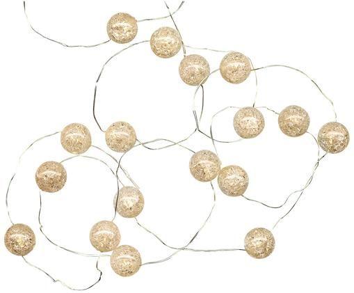 Guirnalda de luces LED Raindrop, 140cm, Plástico, Blanco, L 140 cm