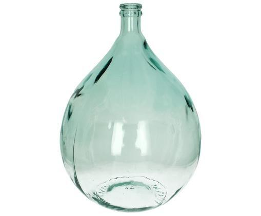 Wazon podłogowy ze szkła z recyklingu Mikkel, Szkło recyklingowe, Jasny niebieski, W 56 cm