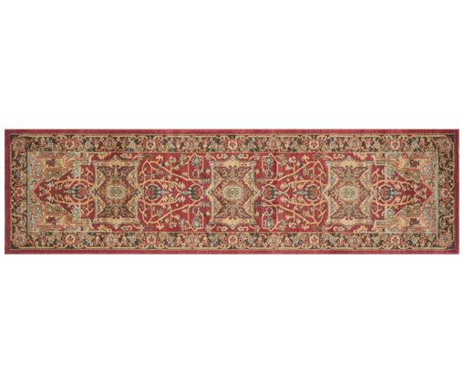 Tapis de couloir style oriental Alberto, Rouge, multicolore