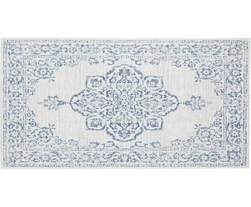 In- & Outdoor Teppich Navarino Blue im Vintage Look