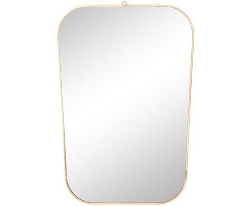 Eckiger Wandspiegel Rounded mit Goldrahmen