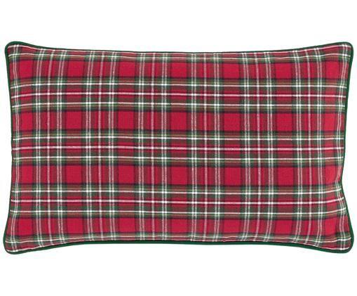 Karierte Kissenhülle Tartan in Rot und Grün