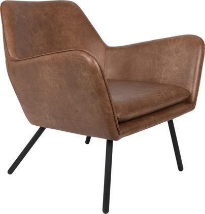Kunstleder-Sessel Bon im Industrial Design