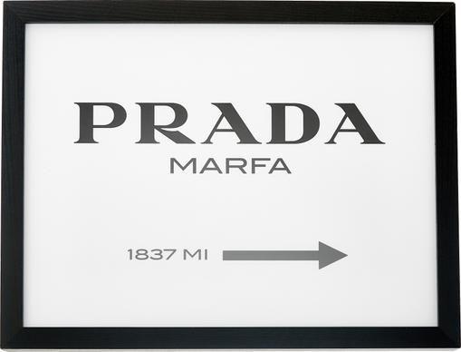 Gerahmter Digitaldruck Prada Marfa