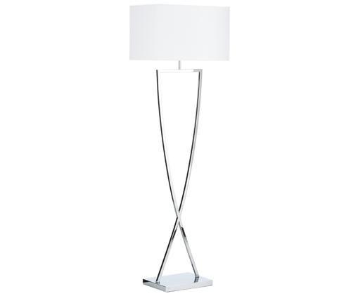 Lampa podłogowa Toulouse, Chrom, biały