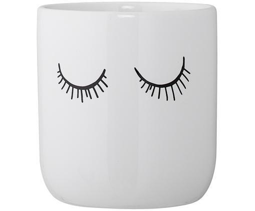 Becher Lashes, Keramik, Weiß, Schwarz, Ø 10 x H 11 cm