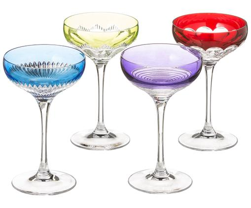 Komplet kieliszków do szampana Mixology,  4elem., Wielobarwny
